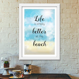 Life at beach Premium Italian Wooden Frames | Artist : Not Just Doodle