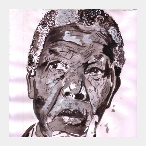 Nelson Mandela Was A Leader With A Huge Fan-following Square Art Prints PosterGully Specials