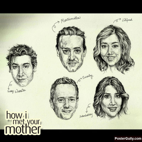 Square Art Prints, How I Met Your Mother | Artist: Pushkar Priyadarshi, - PosterGully