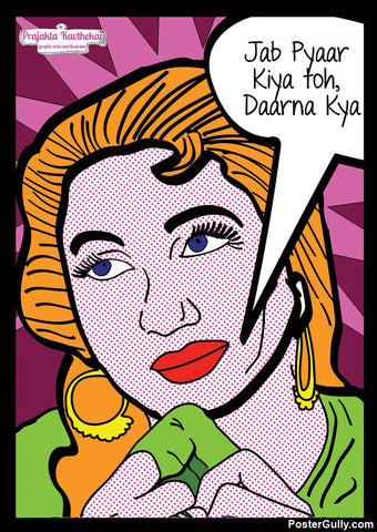 Wall Art, Madhubala Pop Art Artwork | Artist: Prajakta Kavthekar, - PosterGully - 1