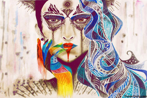 Wall Art, Beauty Of Woman Artwork | Artist: Zeeshan Ansari, - PosterGully - 1