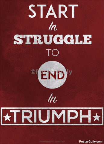 Wall Art, Start Struggle Artwork | Artist: Kumaraditya Dash, - PosterGully - 1