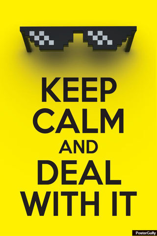 Wall Art, Deal With It Artwork | Artist: Gautam Bhuyan, - PosterGully