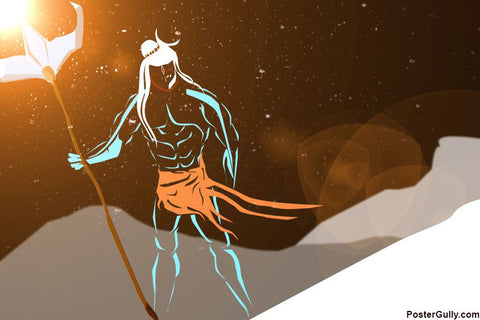 Brand New Designs, Lord Shiva Artwork | Artist: Prashant Negi, - PosterGully