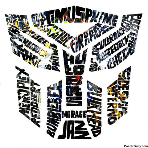 Square Art Prints, Autobots Color Artwork | Artist: Shyam Zawar, - PosterGully