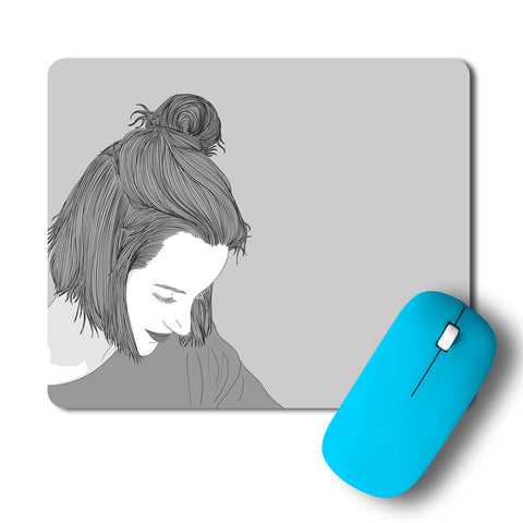 Happy Glowing Girl Mousepad