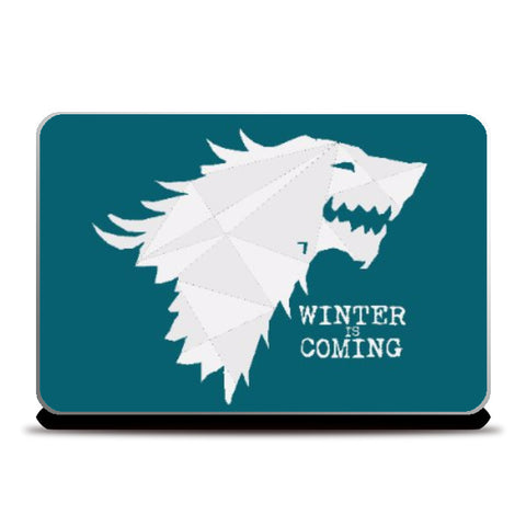 Laptop Skins, GOT Stark - Winter is Coming Laptop Skin | Artist : Sarbani Mookherjee, - PosterGully