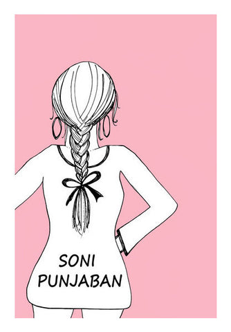 Soni Punjaban Indian Woman Minimal Print  Art PosterGully Specials