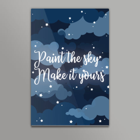 Paint the sky Metal Prints | Artist : Maitreyeeee