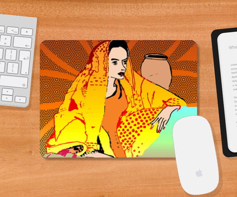 Lovely Lady Artwork Mousepad | Artist : Design_Dazzlers