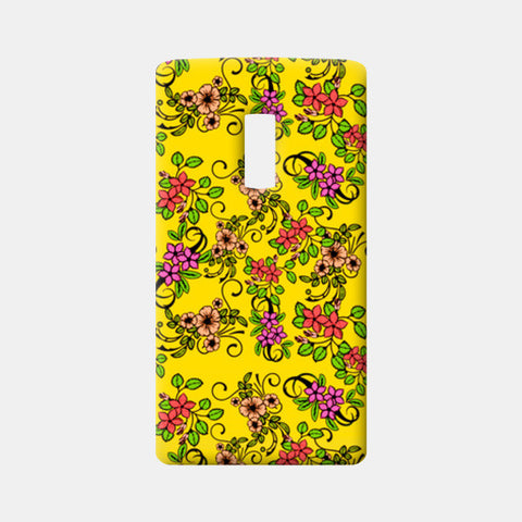 One Plus Two Cases, Retro Floral Pattern One Plus Two Cases | Artist : Sudhakar Kamath, - PosterGully