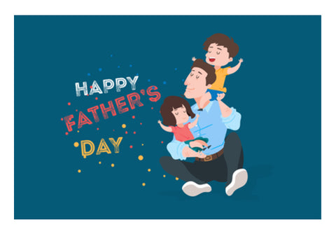 Child's With Dad My Father's Day | #Father's Day Special  Wall Art  | Artist : Creative DJ