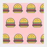 Burger  Square Art Prints | Artist : Nishit Shah