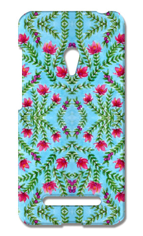 Blue And Pink Traditional Watercolour Floral Pattern Asus Zenfone 5 Cases | Artist : Seema Hooda