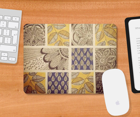 Mousepad, Patterns Ink Trails Mousepad | Artist: Archana Narendran, - PosterGully