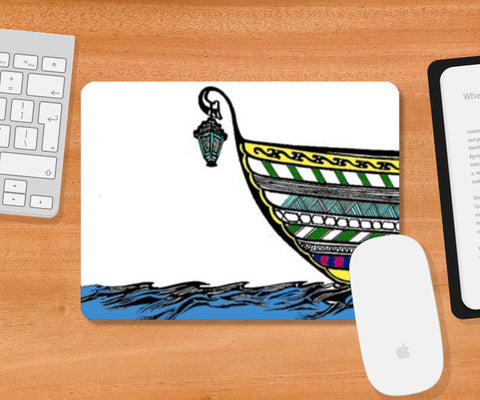 Mousepad, Boat in Sea Mousepad | Artist : Dr. Green, - PosterGully