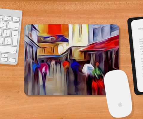 Mousepad, Going to Theater - Digital Painting Mousepad | Artist : CK GANDHI, - PosterGully