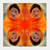 Becoming The Fire - Indian Woman Square Art Prints | Artist : Rameshwar Chawla