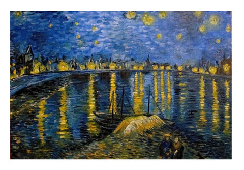 Starry night over the Rhone -Van Gogh Wall Art  | Artist : Sukanya Chakraborty