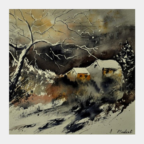 watercolor 210181 Square Art Prints | Artist : pol ledent