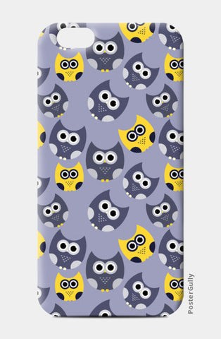 Owl illustrations pattern on gray background iPhone 6/6S Cases | Artist : Designerchennai