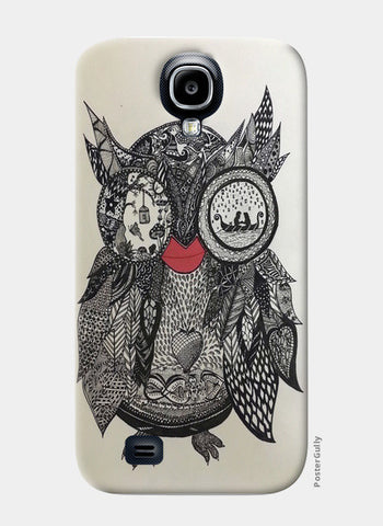 the Mystic Owl Samsung S4 Cases | Artist : Quirky Designs by Priyanka Singhania