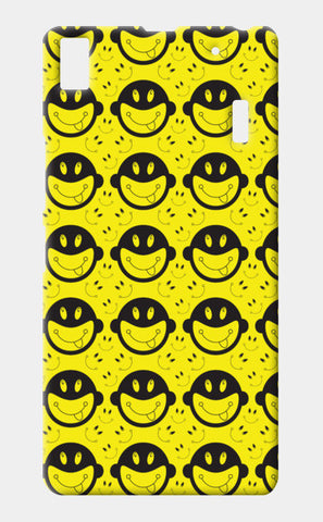 Monkey tongue out on black and yellow Lenovo A7000 Cases | Artist : Designerchennai