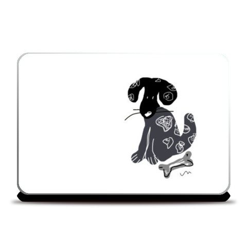 For the Dog Lover Laptop Skins | Artist : Papo Mukherjee