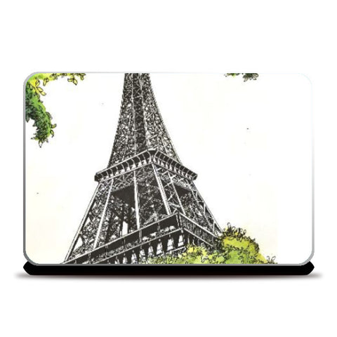 Laptop Skins, Eiffel Tower Art Laptop Skin | Artist: Manju Nk, - PosterGully