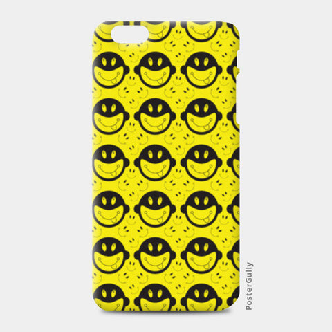 Monkey tongue out on black and yellow iPhone 6 Plus/6S Plus Cases | Artist : Designerchennai