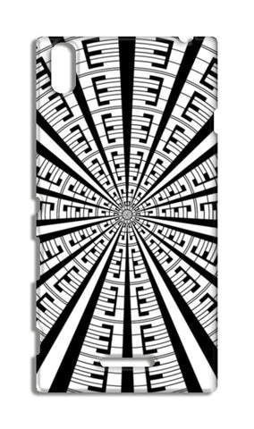 Abstract Geometric Black And White Radial Line Art Design  Sony Xperia T3 Cases | Artist : Seema Hooda