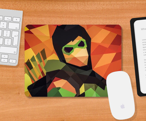 Mousepad, Geometrical Super Hero Mousepad | Artist : Divakar Singh, - PosterGully