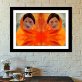 Becoming The Fire - Indian Woman Premium Italian Wooden Frames | Artist : Rameshwar Chawla