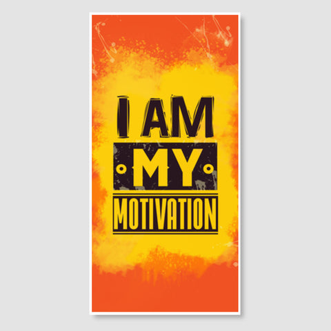I am My Motivation Door Poster | Artist : Maninder Singh