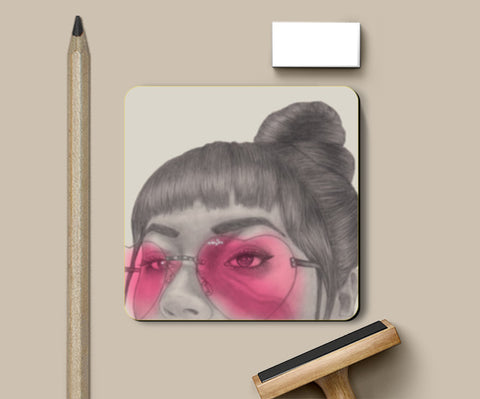 Betty With The Glasses Coasters | Artist : Anniez Artwork