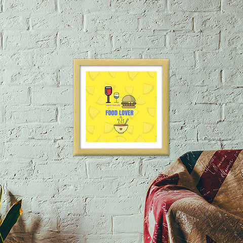 The Food Lover Premium Square Italian Wooden Frames | Artist : Pallavi Rawal