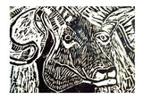 Wall Art, The Ram- Linocut Wall Art  | Artist : Papo Mukherjee, - PosterGully
