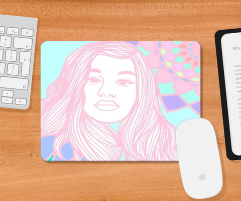 Neon Girl Mousepad | Artist : Priyanka Paul