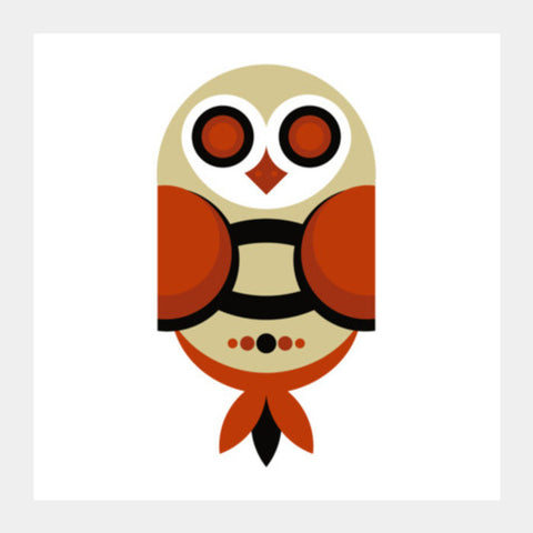 Geometric Owl Art Square Art Prints PosterGully Specials