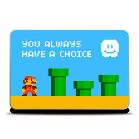 Pixelvana - You always have a choice - pixel motivation Laptop Skins | Artist : 8bitbaba