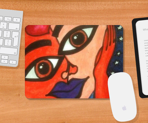 Faces Mousepad | Artist : Khwabeeda