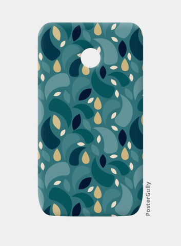 Geometric leaf  shapes seamless pattern Moto E Cases | Artist : Designerchennai