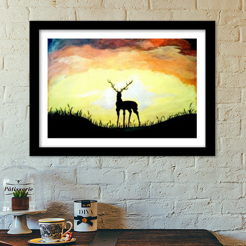 Stand alone even if it gets Dark Premium Italian Wooden Frames | Artist : Pallavi Rawal