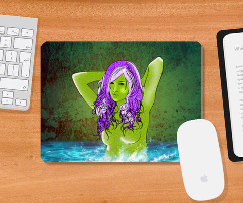 Pretty Green From Pool Mousepad | Artist : Archana Aravind