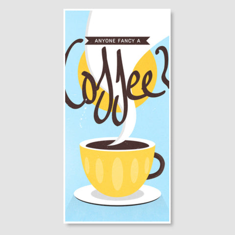 coffee art  Door Poster | Artist : Fariya Arts