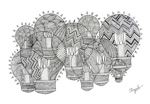 Wall Art, Doodle Light Wall Art  | Artist : Eggoticons, - PosterGully