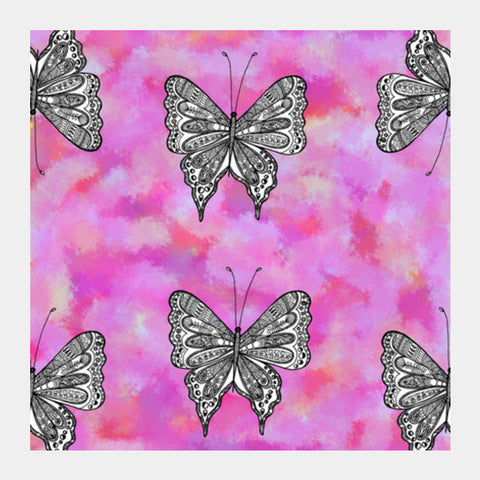 Butterfly Patterns Square Art Prints | Artist : Amulya Jayapal
