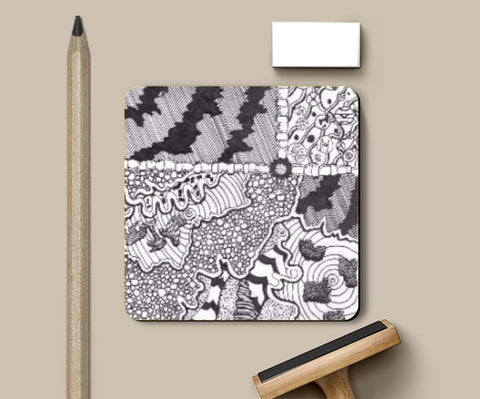 Coasters, Abstract Doodle Coaster | Artist: Shireen Gadru, - PosterGully
