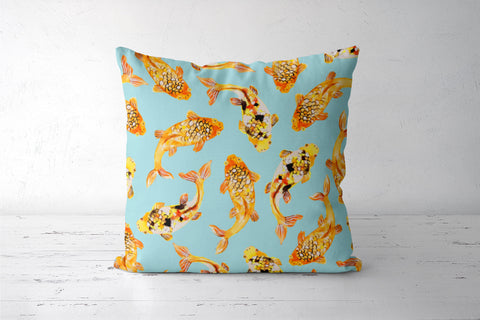 Goldfish Cushion Cover Cushion Covers | Artist : Uma Gokhale