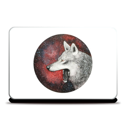 Red Wolf Laptop Skins | Artist : Prakersh Gupta